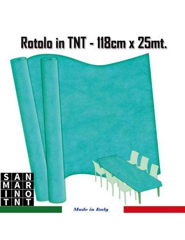 Rotolo in TNT cm.118x25 mt colore Blu TIFFANY
