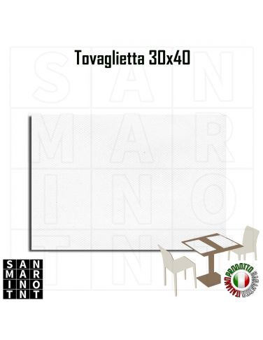 Tovaglietta Americana Bianca 30x40