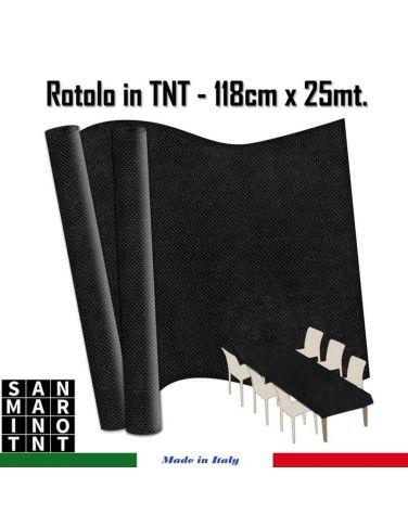 Rotolo in TNT cm.118x25 mt colore nero