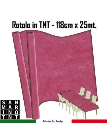 Rotolo in TNT cm.118x25 mt colore rosa shocking