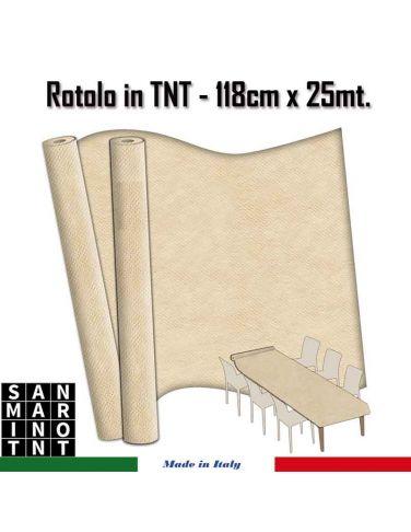 Rotolo in TNT cm.118x25 mt colore  sabbia