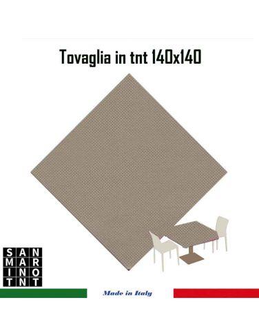 Tovaglia 140x140 in tnt colore CRETA