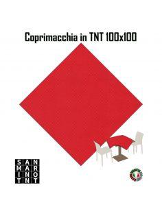 Coprimacchia 100x100 in tnt colore Rosso