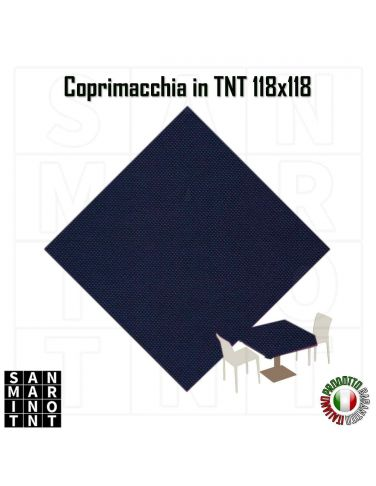 Coprimacchia 118x118 in tnt colore Blu Notte