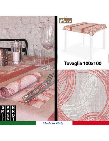Coprimacchia in Spunlace 100x100 Round Rosso