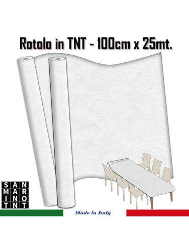 Rotolo in TNT cm.100x25 mt colore bianco