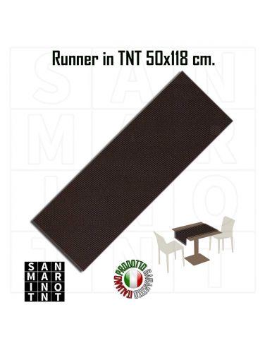 Runner 50x118 in tnt colore Marrone