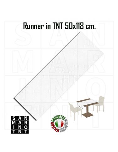 Runner 50x118 in tnt colore Bianco