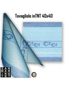 Tovagliolo in Airlaid Mediterraneo Turchese 40x40