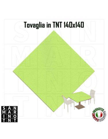 Tovaglia in tnt monouso 140x140 colore verde mela