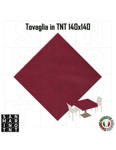 Tovaglia in tnt monouso 140x140 colore bordeaux