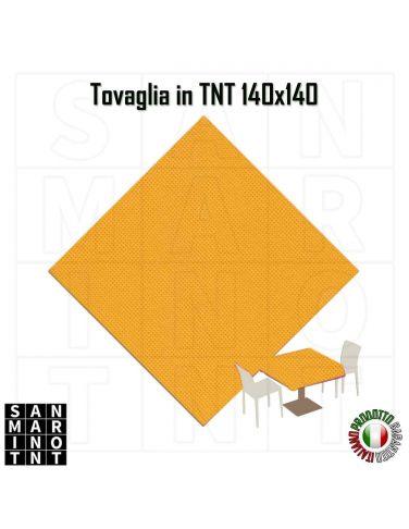 Tovaglia in tnt monouso 140x140 colore Giallo Ocra