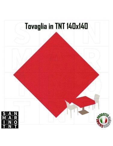 Tovaglia monouso  140x140 in tnt colore Rosso