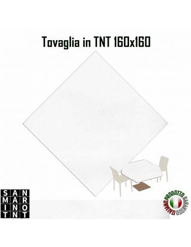 Tovaglia 160x160 in tnt colore Bianco